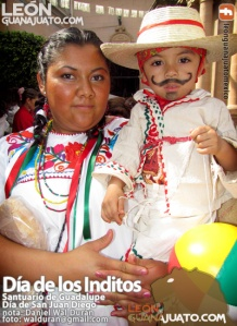 Child dressed as Juan Diego